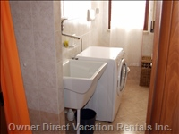 Bathroon #2 with Shower and Washing Machine