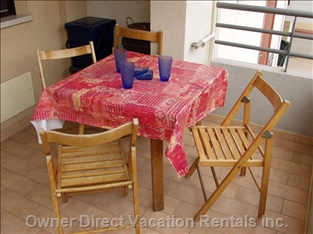 Balcony: Chairs and Table