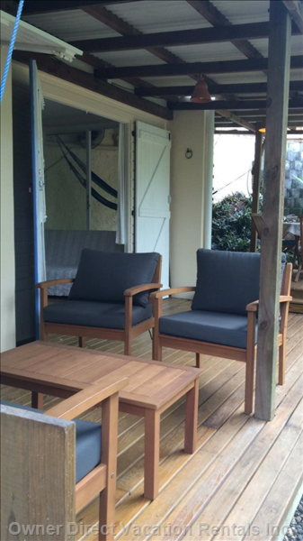 Sit out on the Deck in a Comfortable Love Seat and Two Arm Chairs