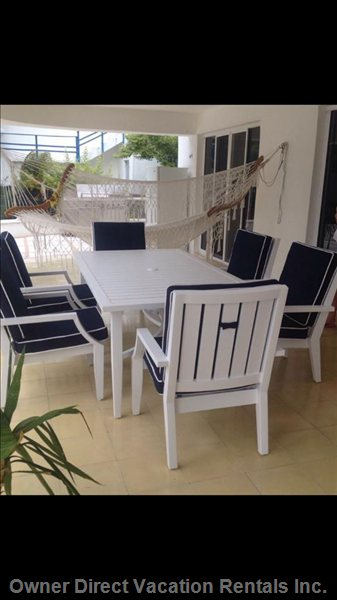 Covered Terrace with Patio Furniture