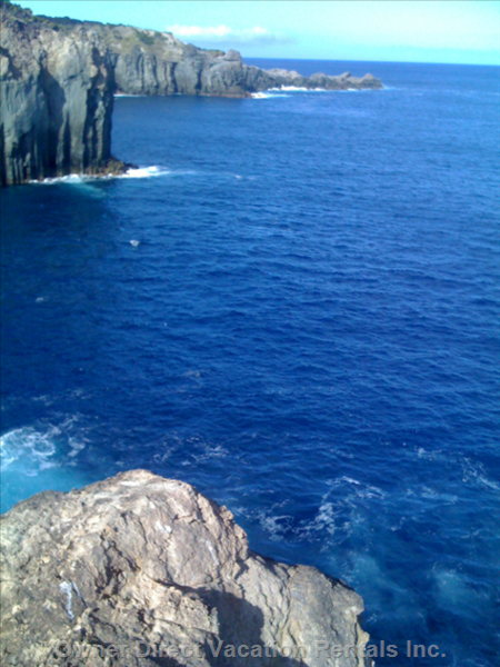 Sky and See in Deep Blue of the Cliffs Embrace the Atlantic