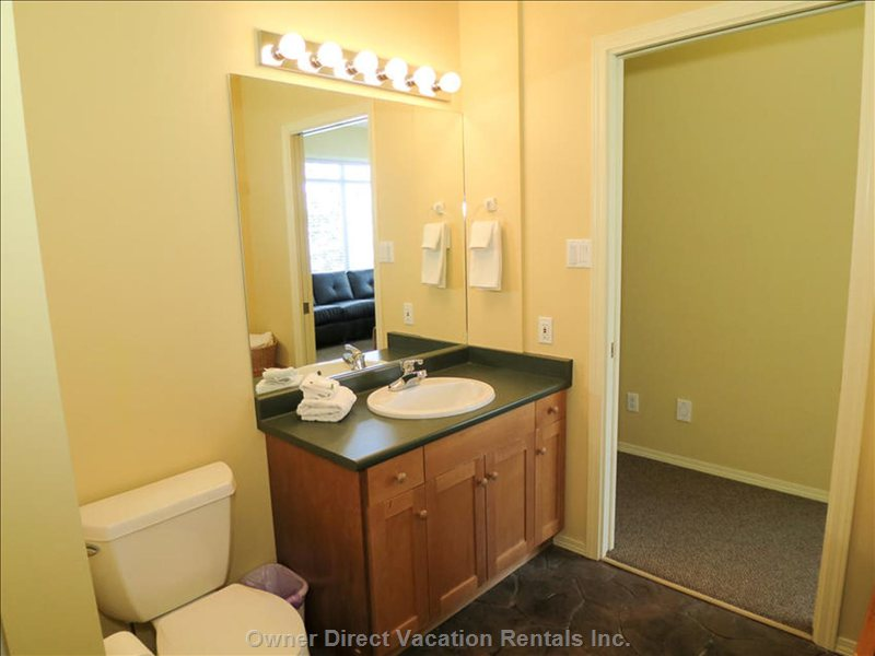 Full Bathroom with Shower Stall on Lower Level