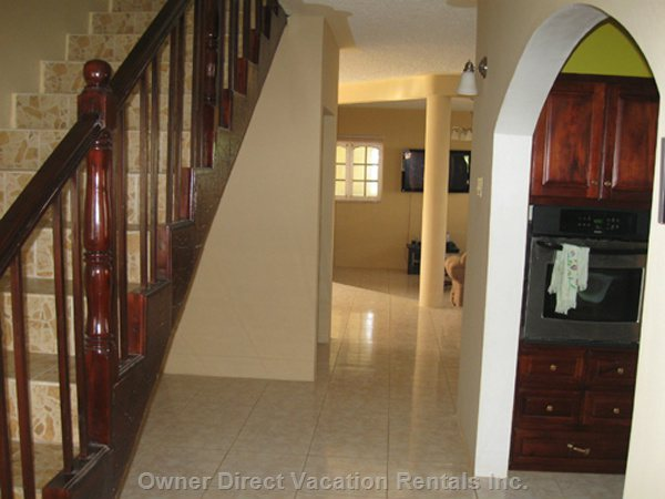 Hallway Leading to Kitchen and the Dining Area