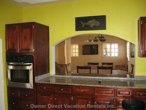Kitchen View Facing the Dining Area