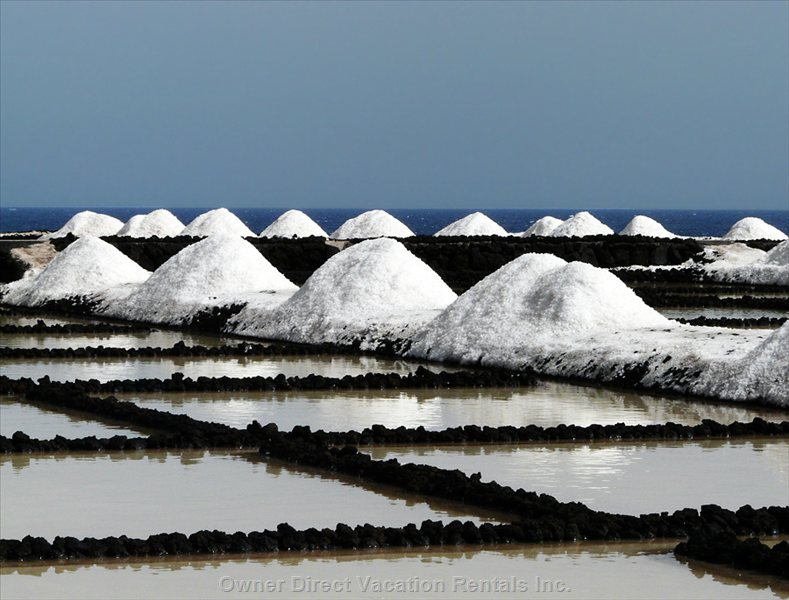 Sea Salt Salina in the South of the Island