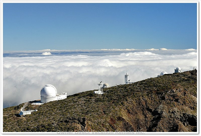 "Highest Mountain ""Roque de Los Muchachos"" (Ca. 7300 Feet - Ca. 2400 M) with Astrophysical Observatories"