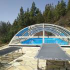 Pool with Cover - Swimming Possible Also in Cool Weather Or at Night - Pool Heatable