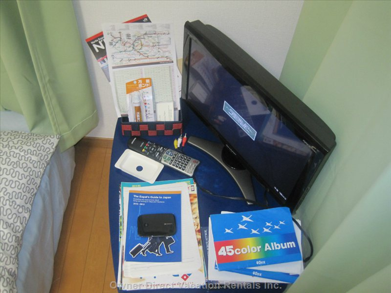 TV, DVD Player, Cd, DVD, Tokyo Guide Books