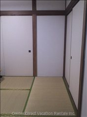 Tatami Mat Floors in Bedrooms and Living Rooms. Japanese-style Sliding Doors Separate all Rooms