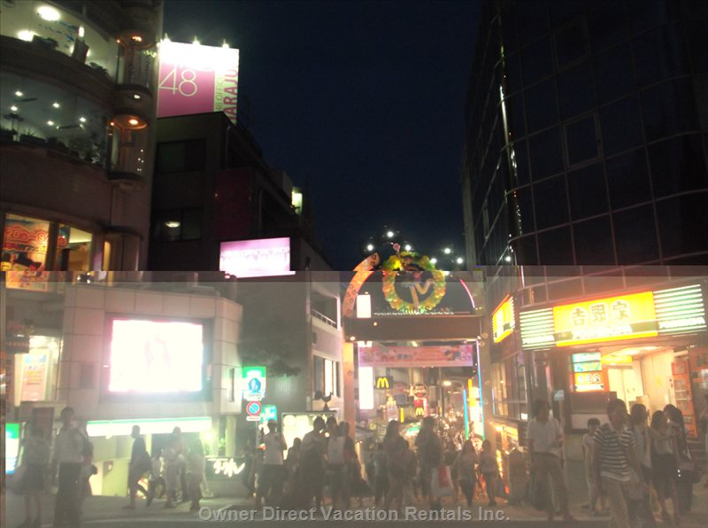Harajuku Sites at Night