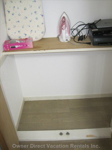 Iron and Ironing Table in the Closet