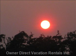 Beautiful Sunsets - View from Top Screened Porch