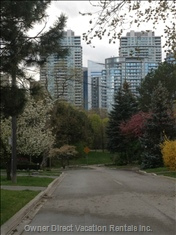 View to End of Street Park and Toronto Skyline