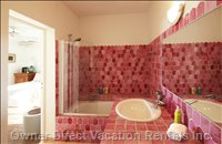 Ensuite Bath- Pink Room