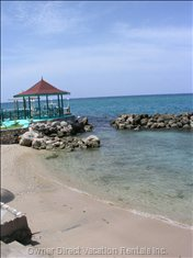 Our Private Beach and Gazebo, Perfect for Swimming, Morning Coffee and Fishing!