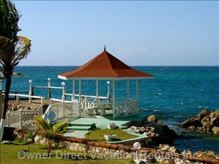 The Gazebo Overlooking the Beach on a Wonderful, Sunny Day