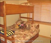 Bedroom 3 with Single over Double Bunk