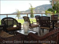 Private Deck with View of Okanagan Lake