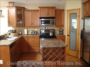 Kitchen with Island & Walk-in Pantry