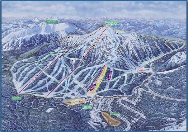Apex Ski Resort Small Trail Map