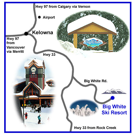 Driving Directions Map to Big White Ski Resort