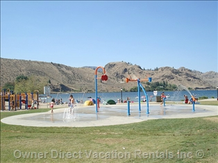 Water Spray Park in Kenyon Park, Penticton