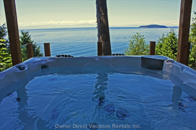 Enjoy the view from the hot tub in Gibsons, BC #207549