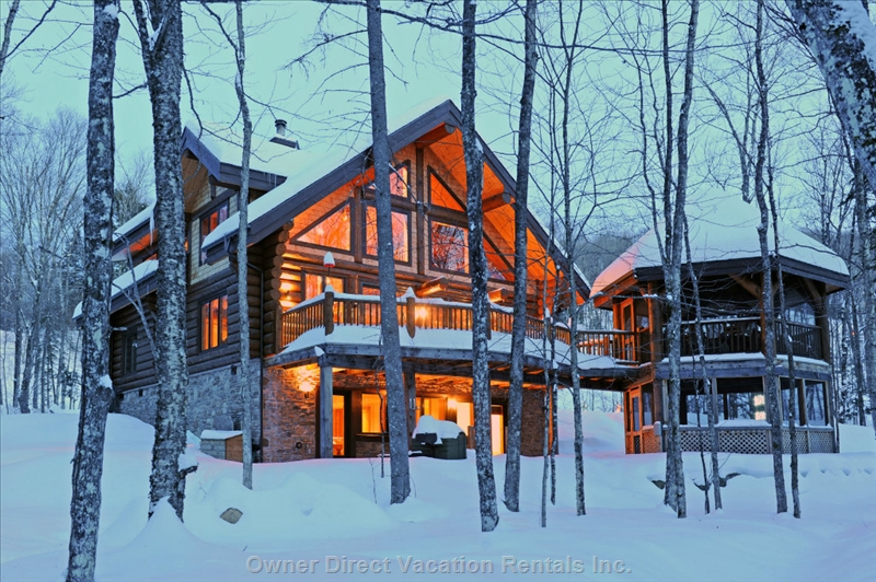 Mont Tremblant's finest log home