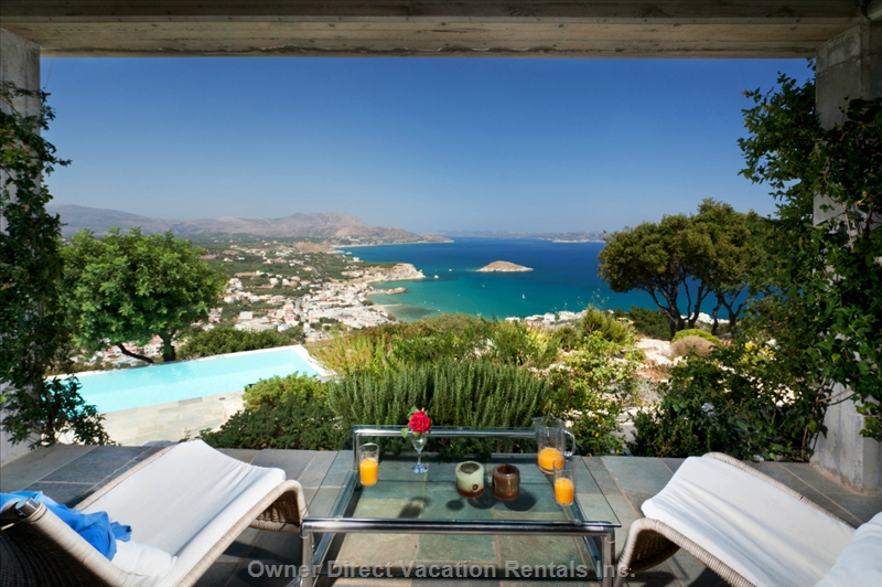 Luxury villa With private pool and spectacular views in Chania, Crete, ID#205107