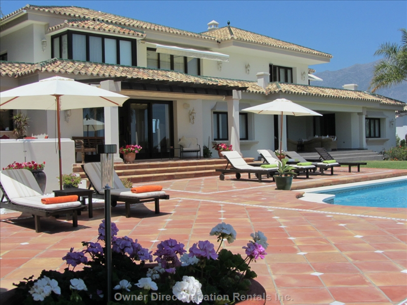 5-Bedroom luxury villa situated in the Golf Valley of Nueva Andalucia Marbella