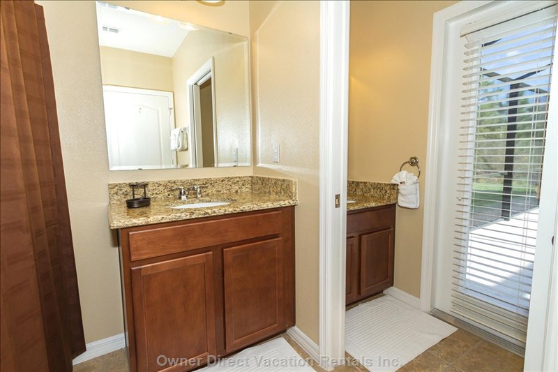 Master Suite Bathroom with Direct Access to Pool