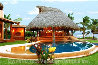Pool Palapa and Bbq Area