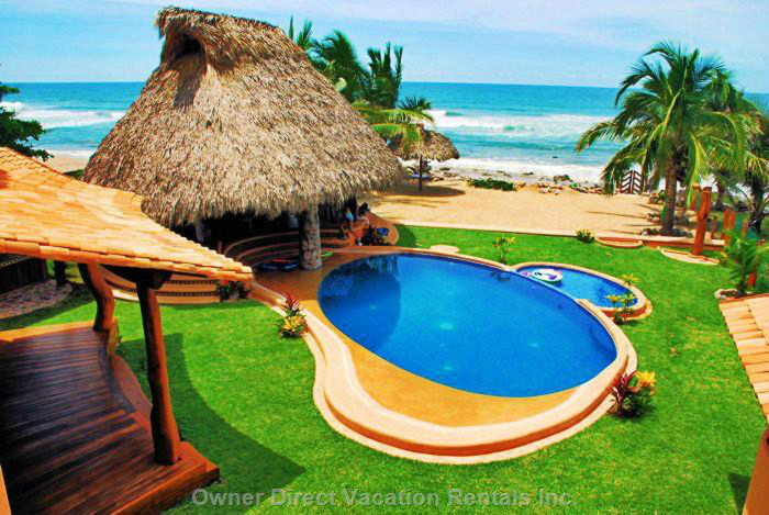 Pool, Palapa, Private Beach and the Ocean.