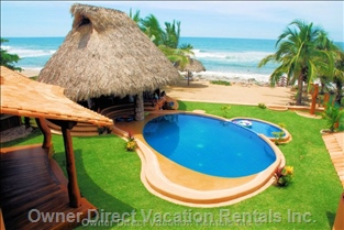 Pool, Palapa, Private Beach and the Ocean - Shared with up to 6 other Units on this Property.