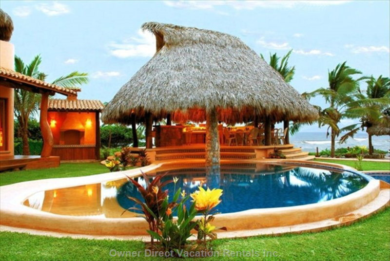Palapa and Bbq Area