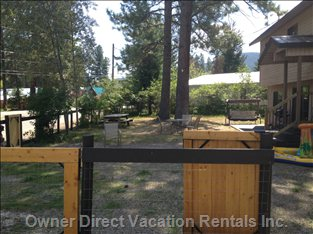 Big Fenced Front Yard for Kids and Pets!