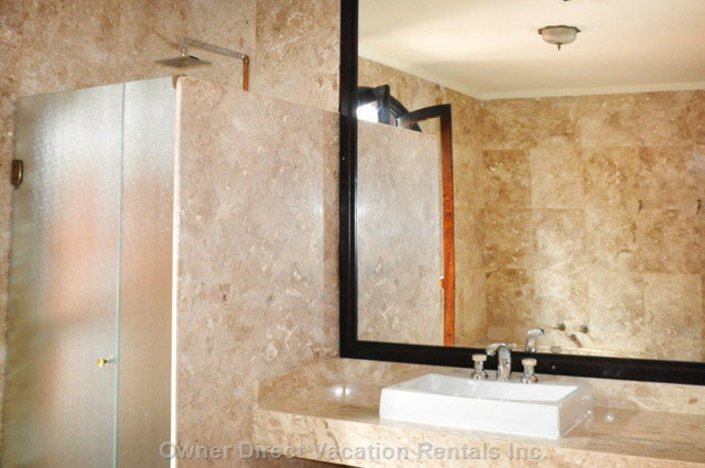 Numerous Luxury Bathrooms are Bedecked with the Finest Imported Italian Marble