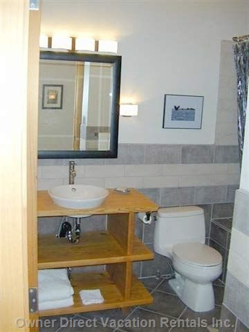 Jetted Tub and Skylight in Bathroom