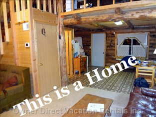 Yes Indoor Real Log Home and Outside is Highly Insulated Vynl Siding
