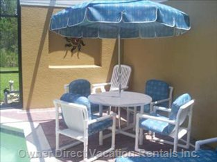 Patio Table and Chairs, Pool Area