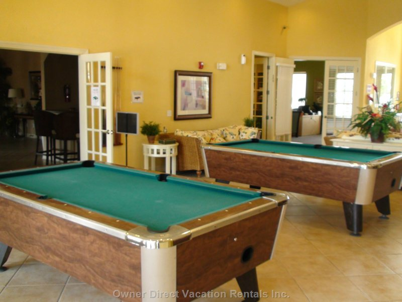 Pool Tables at the Club House