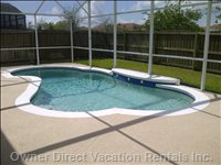 Private Heated Pool with Very Spacious Deck Area