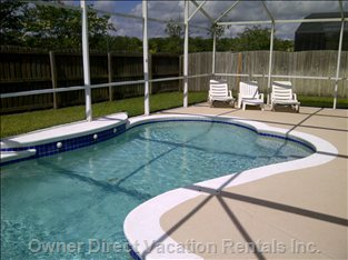 Pool Area and Small Fenced Private Yard
