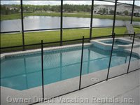 Private Heated Pool & Spa with Lake View
