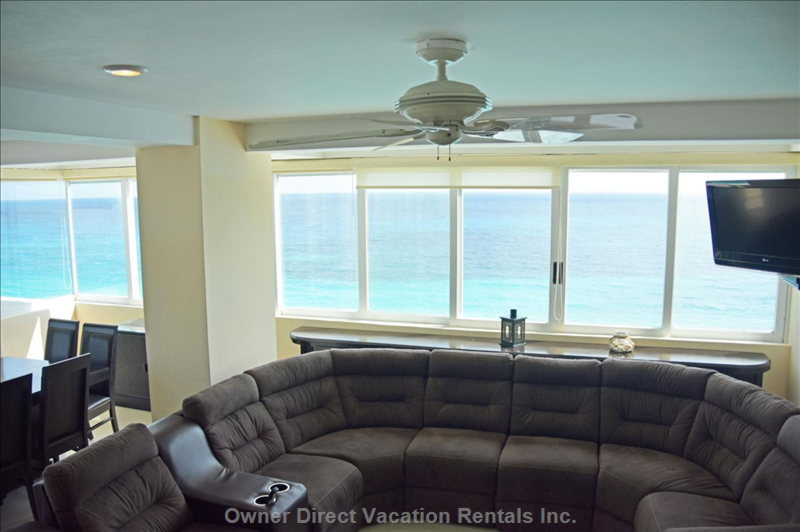 Enjoy the Ocean Views with your Whole Family in the Comfort of this Huge Sectional