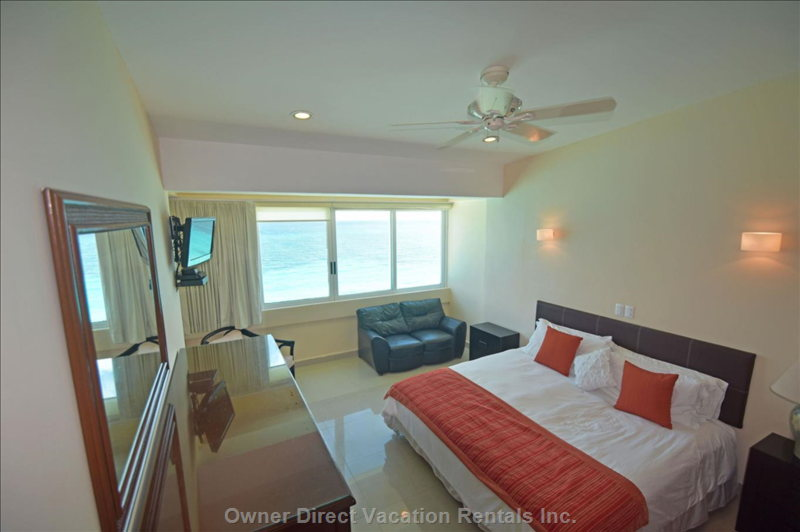 Bedroom 2 with King Bed and Ocean Views.