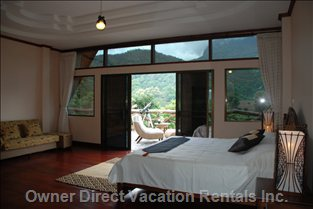 Upstairs Bedroom with Mountain View Balcony