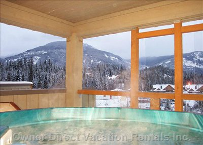 Relax in your Own Private Hot Tub with Mountain Views - Located on a Secluded Third Floor Deck Just off the Bedroom