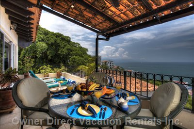 Breakfast Overlooking the Ocean from your Puerto Vallarta Penthouse