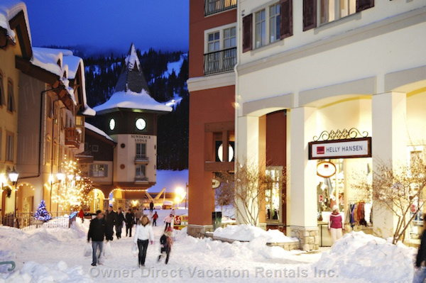 Sun Peaks village at night #203549